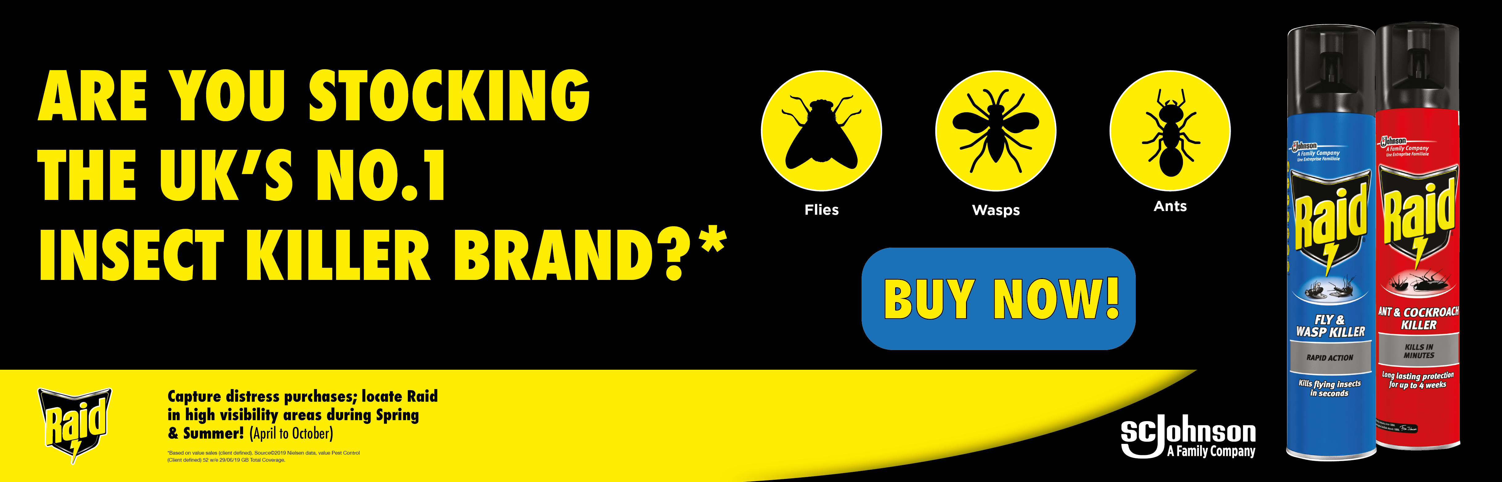 Buy Now! Raid- The UK's no.1 Insect Killer