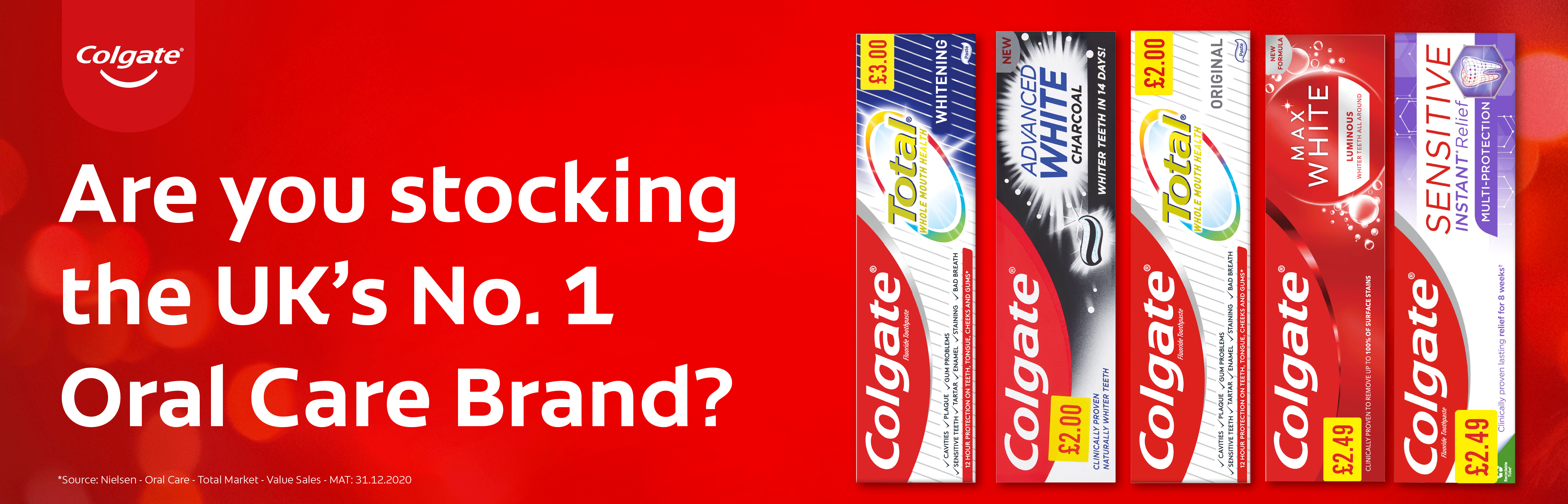 Are you stocking the UK's No.1 oral care brand?