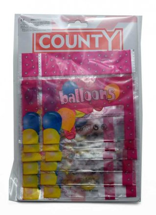County Balloons - 8 Pack