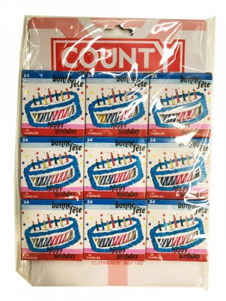 County Birthday Candles - 24 Pack