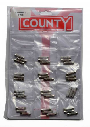 County Assorted Fuses - 3 Pack