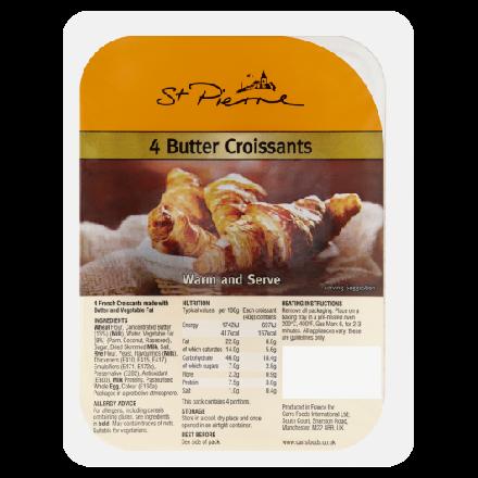 St. Pierre 4 Butter Croissants