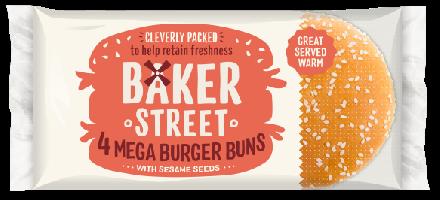 Baker Street 4 Mega Burger Bun
