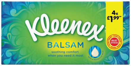 Kleenex Balsam Facial Tissues PM £1.99
