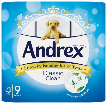 Andrex Classic Clean White Toilet Tissue Rolls