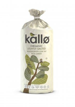 Kallo Organic Lightly Salted Wholegrain Low Fat Rice Cakes