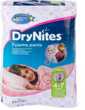 Huggies Dry Nites 4-7 Girl