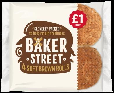 Baker Street 4 Wholemeal Rolls PM £1