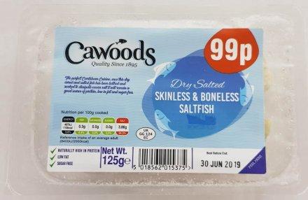 Cawoods Skinless & Boneless Saltfish PM 99p