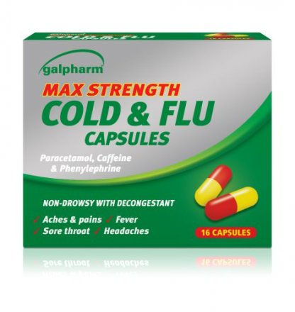 Max Strength Cold & Flu Cap 16's