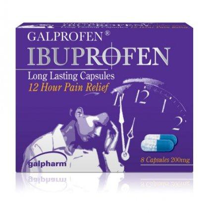 Ibuprofen Long Lasting Capsules - 8 Pack