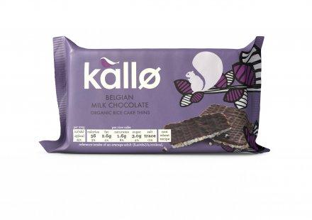 Kallo Organic Milk Chocolate Rice Cakes