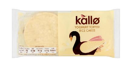 Kallo Yoghurt Topped Rice Cakes