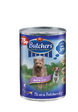 Butcher's Beef & Liver 75p