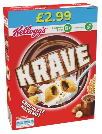 Kellogg's Krave Chocolate Hazelnut PM £2.99