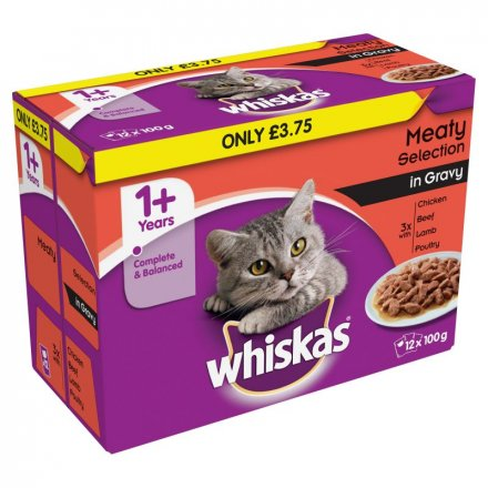 Whiskas 1+Meaty Sel.In Gravy Pouches PM £3.75