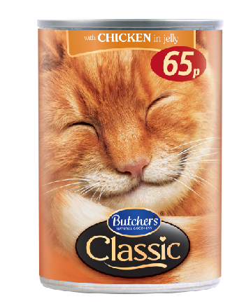 Butcher's Classic Chicken Chunks in Jelly Cat Food PM 65p