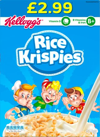 Kellogg's Rice Krispies Cereal PM £2.99