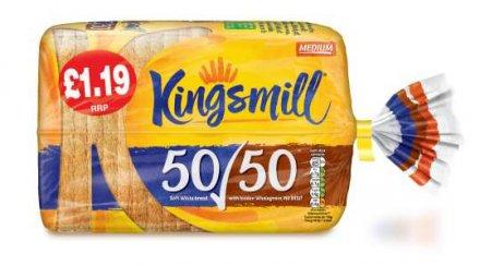 Kingsmill 50/50 Medium Bread PM £1.19