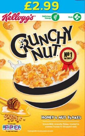 Kellogg's Crunchy Nut Cornflakes PM £2.99