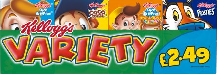 Kellogg's Cereal Variety Pack PM £2.49