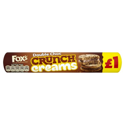 Fox's Double Chocolate Crunch Creams Biscuits PM £1