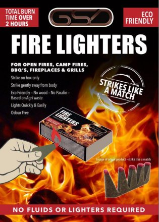 GSD Eco Friendly Fire Lighters - 20 Pack