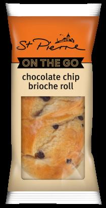 St. Pierre On-the-Go Choc Chip Brioche Roll