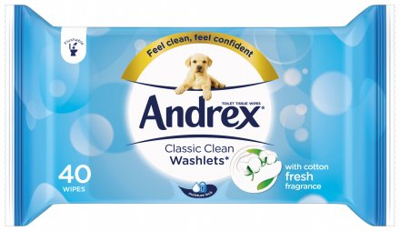 Andrex Flushable Toilet Tissue Washlets