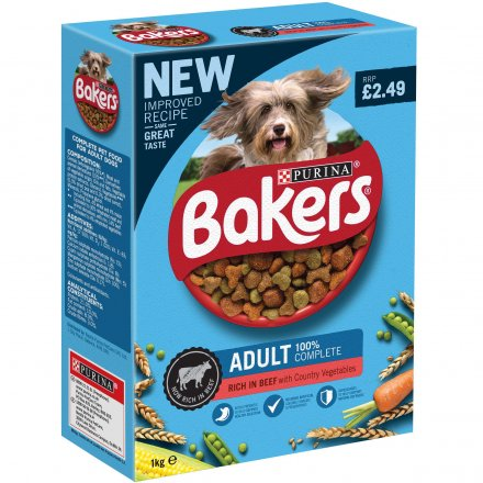 Bakers Beef and Veg Adult Dog Food PM £2.49