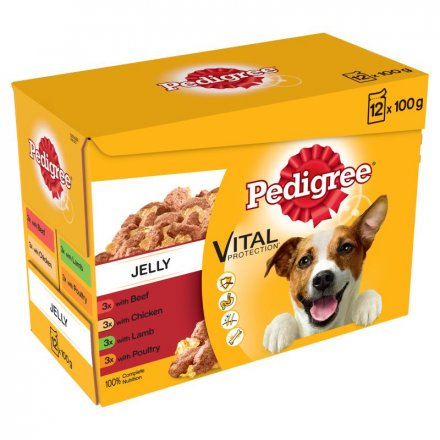 Pedigree Mixed Dog Food Selection In Jelly Pouch 100G