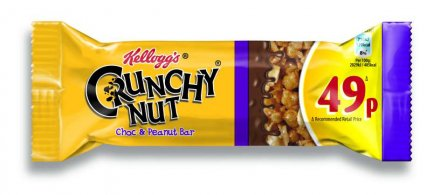 Kellogg's Crunchy Nut Chocolate Peanut Crisp Bar PM 49p