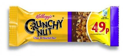 Kellogg's Crunchy Nut Chocolate Peanut Crisp Bar PM 49p