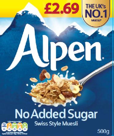 Alpen No Added Sugar PM £2.69