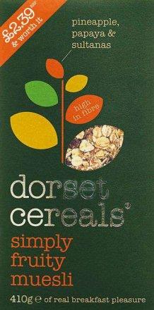 Dorset Cereals Simply Fruity Muesli PM £2.39