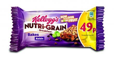 Kellogg's Nutrigrain Breakfast Raisin Bakes PM 49p