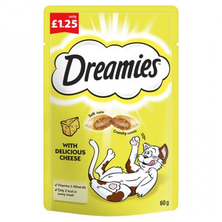 Dreamies Cheese Cat Treats PM £1.25