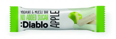 Diablo No Added Sugar Yogurt Coated Apple Museli Bars