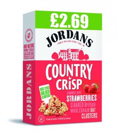 Jordans Country Crisp Strawberry PM £2.69
