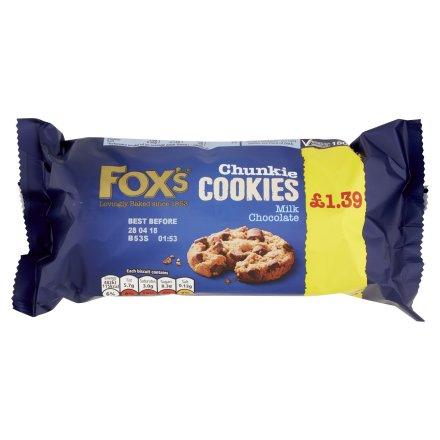 Fox's Milk Chocolate Chunks Chunkie Cookies PM £1.39