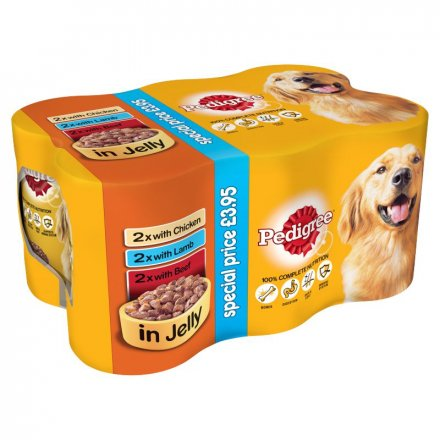Pedigree Mixed Selection In Jelly Dog Food PM £3.95
