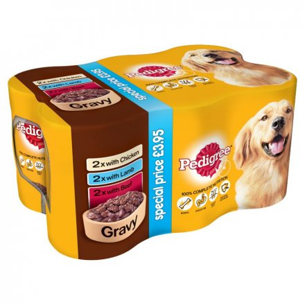 Pedigree Dog Can Mixed Selection in Gravy PM £3.95