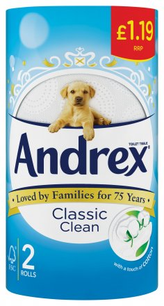 Andrex Toilet Tissue Classic Clean PM £1.19