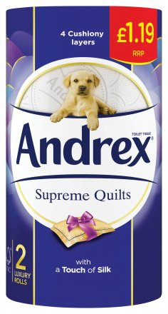 Andrex Toilet Tissue Supreme Quilts PM £1.19