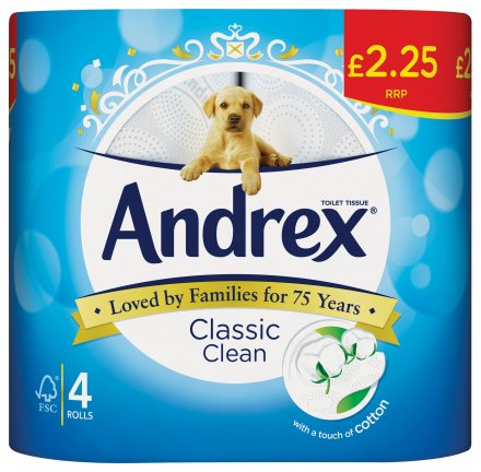 Andrex Toilet Tissue Classic Clean PM £2.25