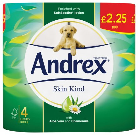 Andrex Toilet Tissue Skin Kind PM £2.25