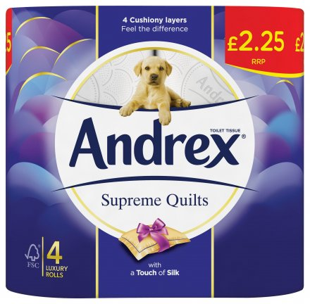 Andrex Toilet Tissue Supreme Quilts PM £2.25