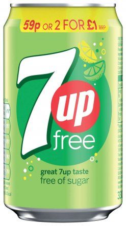 7up Free Can PM 59p / 2 for £1
