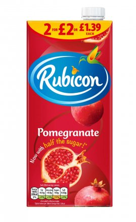 Rubicon Pomegranate Tetra £1.39 / 2 for £2