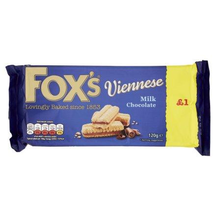 Fox's Viennese Milk Chocolate Biscuits PM £1